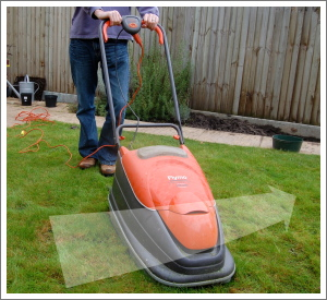 Hover lawnmower sideways movement