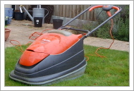 Electric hover mower